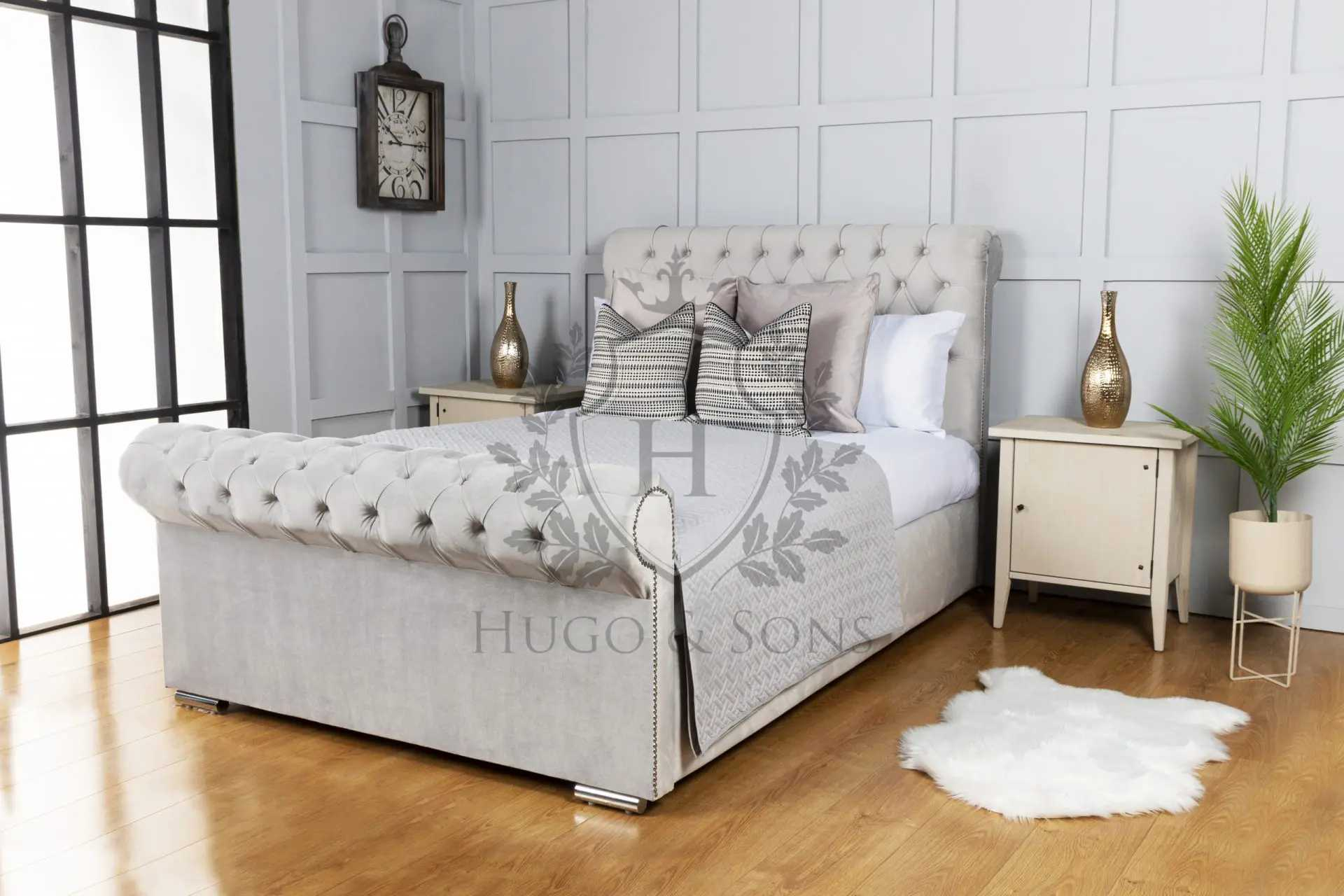 Hugo & Son's Luxurious Handmade Sleigh Beds Are Available Just in Time for Christmas